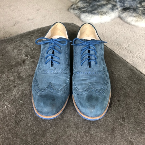 Cole Haan Shoes | Cole Haan Blue Suede